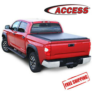 Access Literider Soft Roll Up Bed Cover Fits 07-20 Tundra 5.5ft Bed W/ Deck Rail