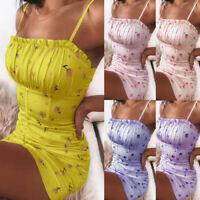 Women Mini Dress Dresses Sundress Flooral Sleeveless Camisole Tank Summer HOT
