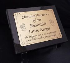 Personalised Baby Angel Engraved Granite Memorial Grave Plaque Stone any wording