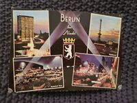 Berlin At Night - Vintage Postcard