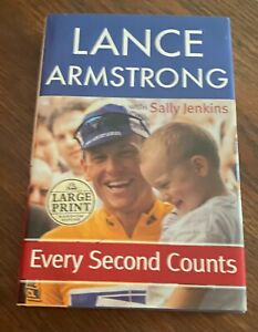 """Signed Lance Armstrong """"Every Second Counts"""""""