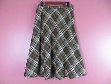 SK07075- JONES NEW YORK Woman Polyester Viscose Long Flared Skirt Plaids Sz 12