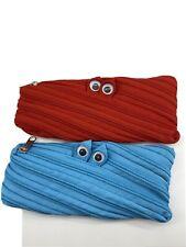 Set Of 2 Googly Eyes Zipper Pencil Case