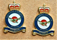 2 x MILITARY ENAMEL PIN BADGE RAF *SPITFIRE* VETERAN REMEMBRANCE ARMY BADGE