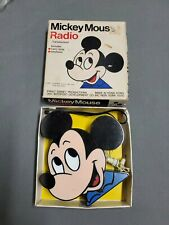 Vintage MICKEY MOUSE Transistor Radio Model 179 New in Box with Earphone