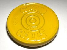 FRANKOMA POTTERY.Yellow WARM ROLLS FOR YOUR TABLE TRIVET #250