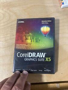 CorelDraw Graphics Suite X5 Pc Excellent Disc Condition Win7 Vista XP No Book.