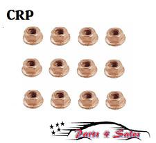 CRP 12-PCS BMW E10 E24 E30 E31 E32 E34 Copper Lock Nut 8 mm Exhaust 11621711954