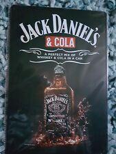 Jack Daniel's & Cola (1) Metal Sign Plaque ManCave Beer Pubbar Garage Shed
