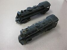 2 Vintage Marx Train Locomotives Die Cast Steam Engines #999 For Parts FREE SHIP