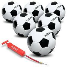 GoSports Classic Soccer Ball 6 Pack - Size 4 with Premium Pump and Carrying Bag