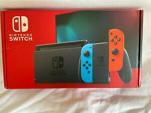 Nintendo Switch Console with Neon BlueRed Joy-Con Controllers IMP BATTERU VERS