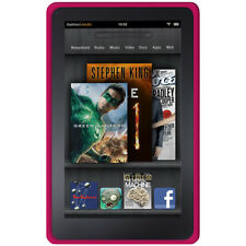 AMZER HOT PINK SILICONE SKIN JELLY CASE FOR AMAZON KINDLE FIRE