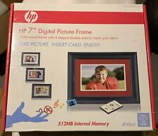 "HP 7"" LCD Digital Photo Frame ( DF780A2 ) - Black  - WITH WIRELESS REMOTE 512MB"