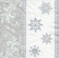 4 Motivservietten Servietten Napkins Weihnachten Sterne (051)