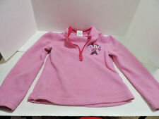Girls size S (5/6) Pink Disney pull over Fleece Minnie Mouse