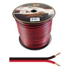 Lautsprecherkabel 100m - 2x1,5mm² - 100% CCA Kupfer ; Audiokabel - rot/schwarz