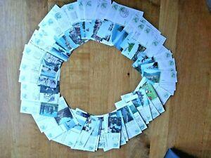 50 verschiedene gelaufene Ganzsachen Bildpostkarten von 1982