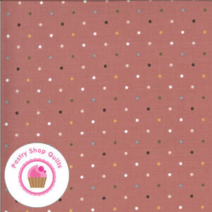 Moda FOLKTALE 5124 13 Red Multi Color Polka Dot LELLA BOUTIQUE Quilt Fabric