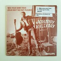 JOHNNY HALLYDAY ♦ CD PROMO NEUF SOUS BLISTER ♦ MES YEUX SONT FOUS *1965