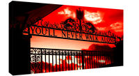 Liverpool You'll Never Walk Alone CANVAS WALL ART Picture Print Red