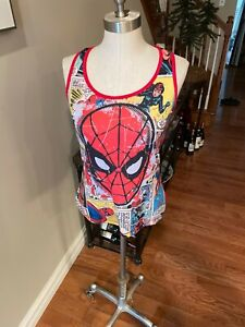 Juniors sz large tank top in Red w/ Spiderman comic graphic. FREEship