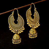 Gold Plated Indian Bollywood Women Jhumka Earring Traditional Set Ethnic Jewelry