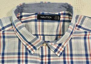 Nautica mens size XL long sleeve cotton shirt NWT