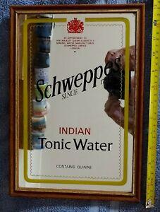 FRAMED BAR MIRROR SCHWEPPES TONIC WATER