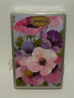 Vintage Congress Pink & Purple Flowers Playing Cards Sealed Deck