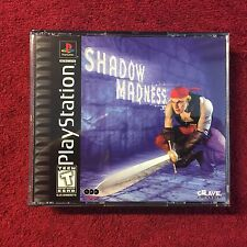 SHADOW MADNESS PlayStation 1 PS1 -& PS3 -Good, RPG, Complete =USED