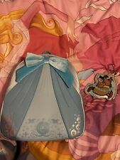 More details for loungefly blue cinderella dress and gus gus coin purse(danielle nicole)