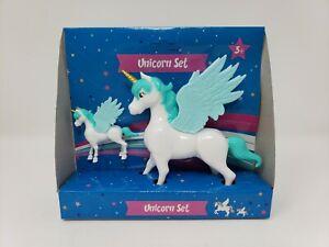 2 Piece Unicorn Pegasus - New - Blue