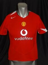Manchester United home soccer jersey 2004/06 Rooney #10 women and kids size M