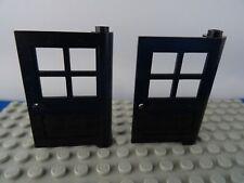 PART 3861 BLACK 1 x 4 x 5 DOORS WITH 4 WINDOW PANES x 2