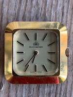 Vintage Carl F. Bucherer Swiss Automatic Mens Women's Watch Square Gold? 1970s?