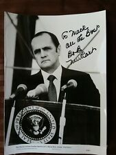 Authentic Bob Newhart autograph publicity promo photo from First Family