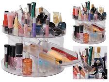 360 Rotatorio Acrílico Caddy de belleza Versátil Organizador de Cosméticos Maquillaje Soporte para caja
