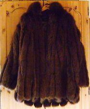 Echter Blaufuchs Jacke Blaufuchsmantel Pelz Mantel Gr 42 44 46 Braun NEUwertig