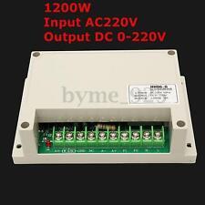 Input AC220V Output Voltage DC 0-220V Motor Speed Controller Max Power 1200W