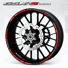 Suzuki GSX-S 1000 wheel stickers decals gsxs1000 rim stripes Gsxs Laminated red