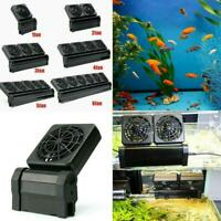 12V Adjustable Aquarium Cooling Fan Fish Tank Cold Chiller Adaptor Wind neu B5E2