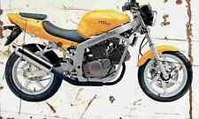 Hyosung GT125 Naked 2003 Aged Vintage SIGN A3 LARGE Retro