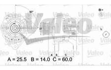 VALEO Alternador para OPEL ASTRA VW GOLF SEAT IBIZA LEON AUDI A4 A3 437316