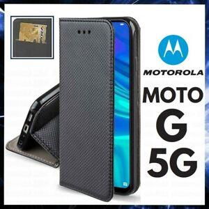 CUSTODIA A PORTAFOGLIO LIBRO per MOTOROLA MOTO G 5G COVER FLIP MAGNETICA PELLE