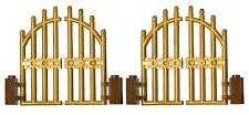 LEGO GOLD gate (pack of 2) for princess castle house palace fence golden door