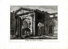 ROMA - Veduta del Portico d'Ottavia  - incisione su rame originale fine '700