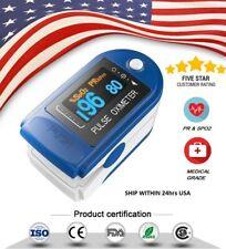 OLED Finger Pulse Oximeter Blood Oxygen Sensor O2 SpO2 Monitor Heart Rate