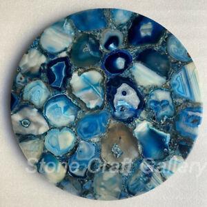 "18"" Blue Agate coffee Table Top Handmade Work  home room decor"