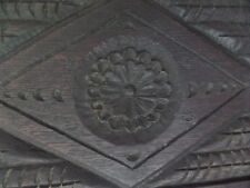 18the Century Carved Oak Daisy Panel